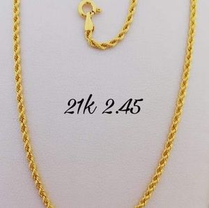 Authentic gold 21k saudi gold